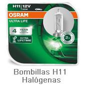 Bombillas H11 Halogenas
